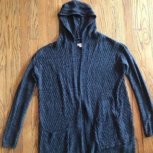 Dark gray Merona hooded cardigan